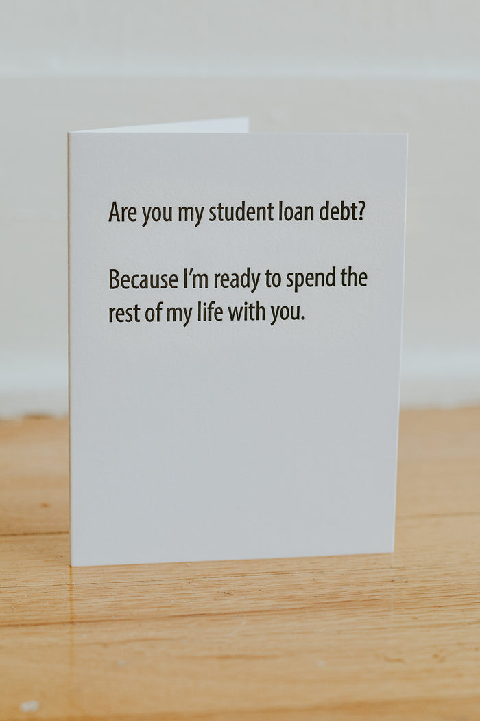 Student Loan Debt Card