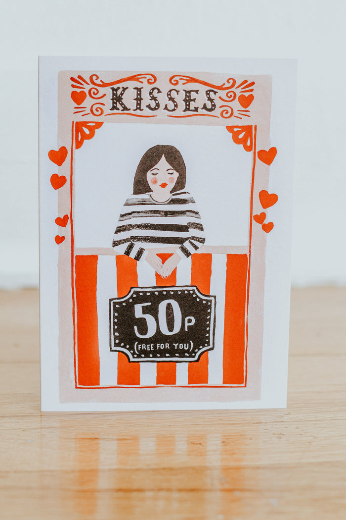 Kissing Booth Card