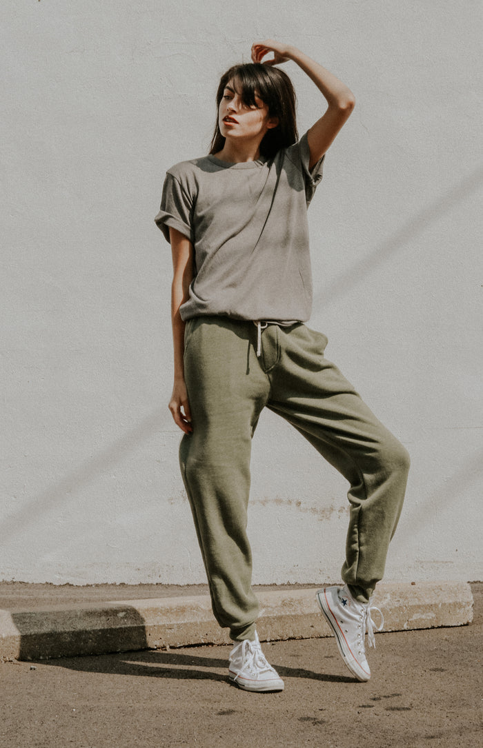 Eco-Fleece Pant in Army Green