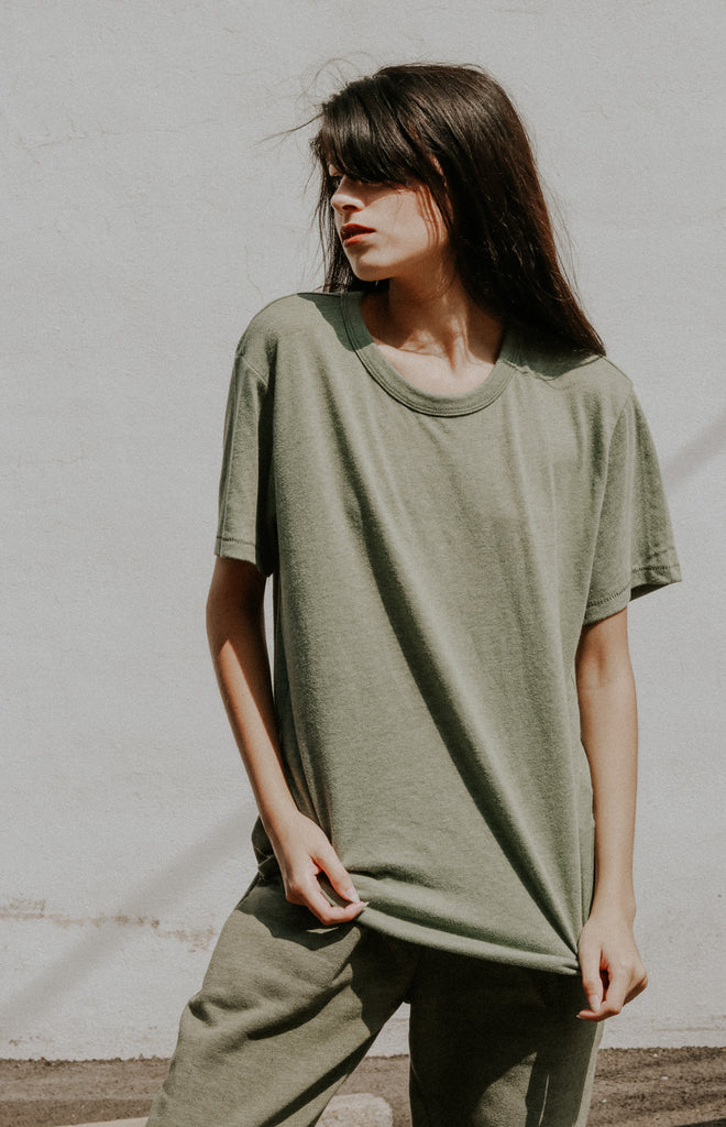 The Keeper Tee in Vintage Pine
