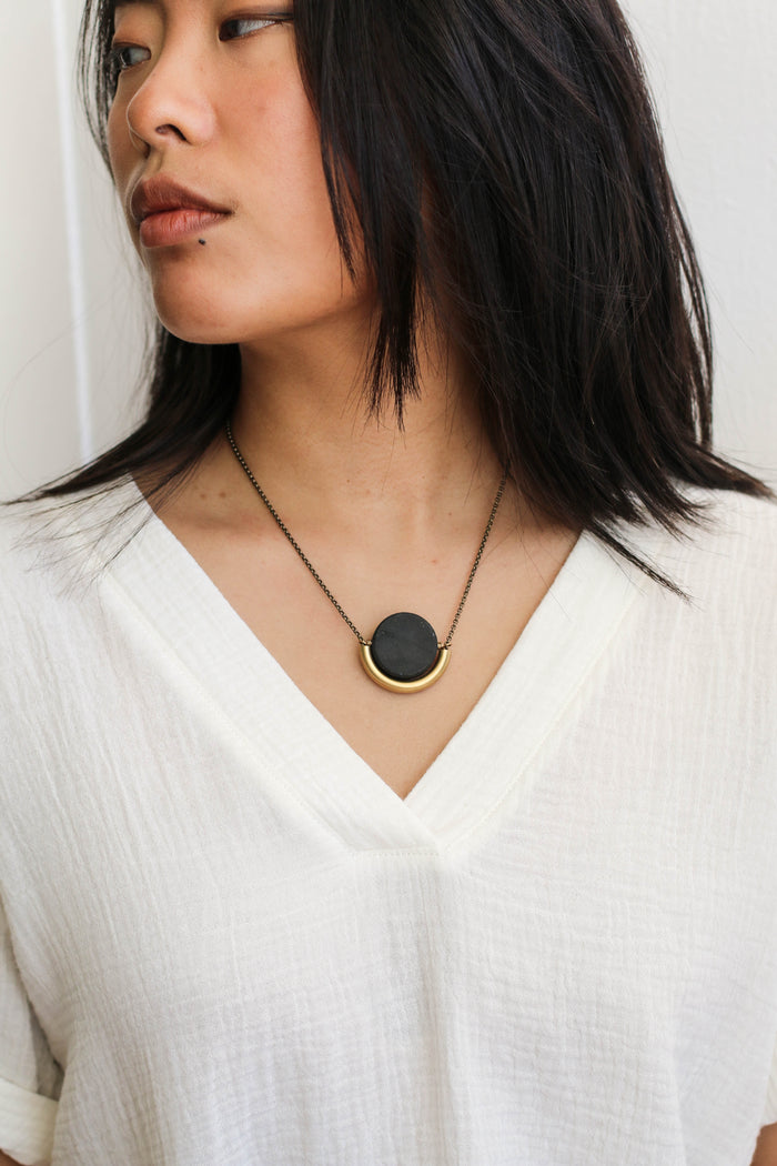 Sun and Moon Necklace (Onyx)