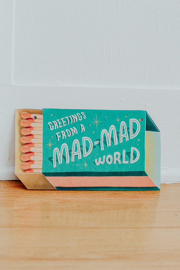 Mad, Mad World XL Postcard