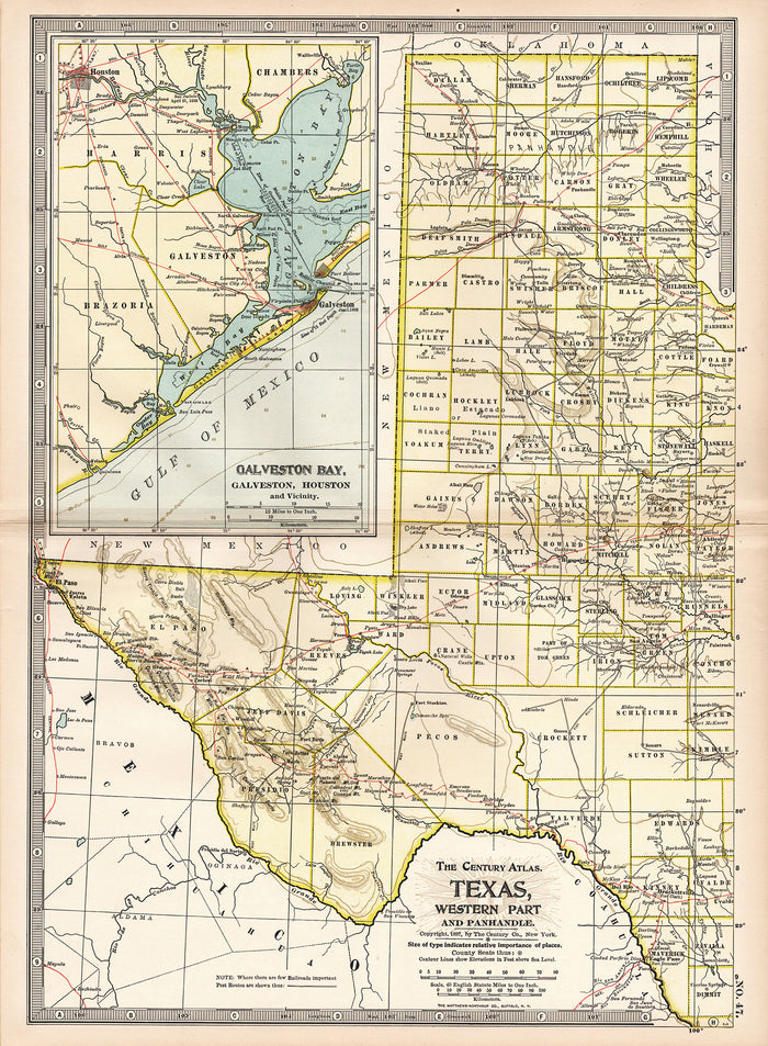 Texas, Eastern Part (1900)