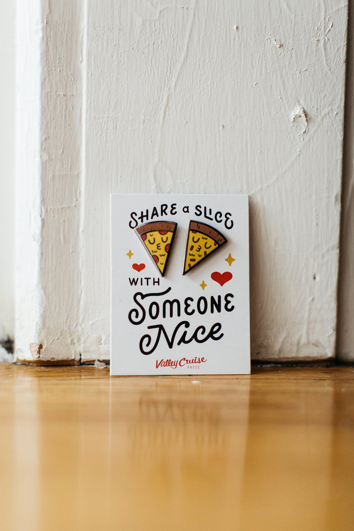 Share A Slice Enamel Pin Set