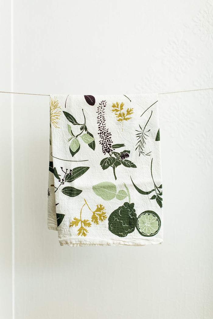 Cocktail Herbs Tea Towel