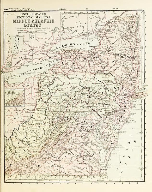 Middle Atlantic States (1881)