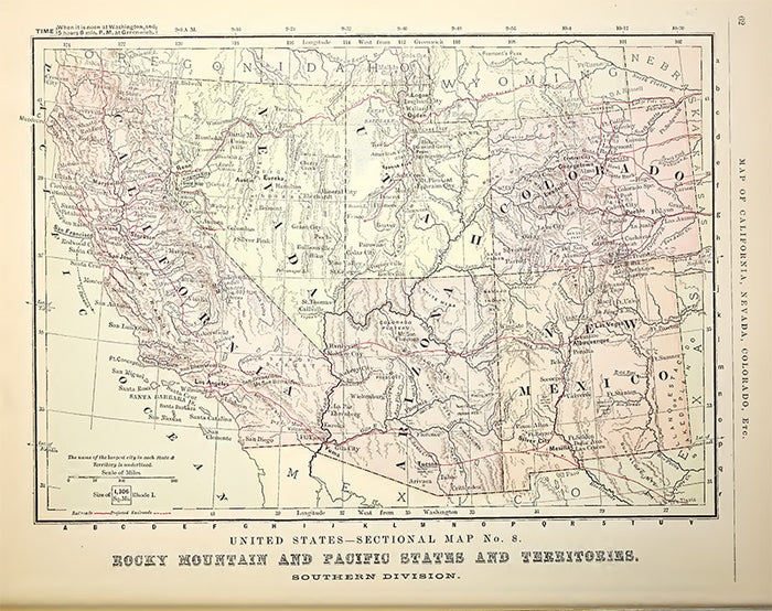 Rocky Mountain and Pacific States and Territories (1881)