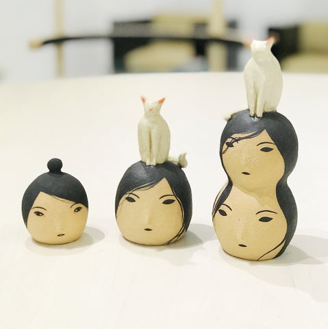 Ceramic Lady Sculptures by Rami Kim