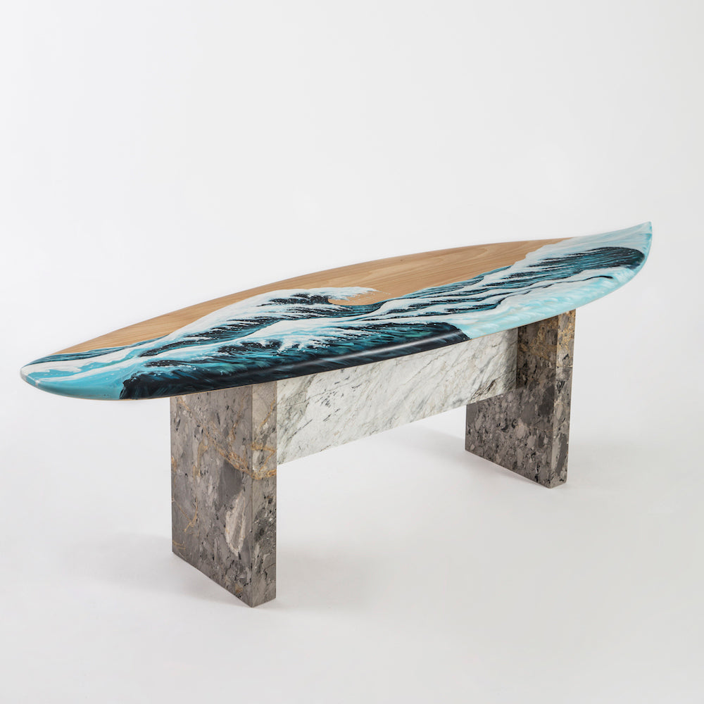 motus surfboard bench by merve kahraman not so general