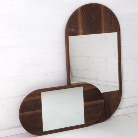coil drift june mirror walnut brooklyn los angeles contemporary design furniture interiors la west hollywood beverly hills bel air downtown modern gallery