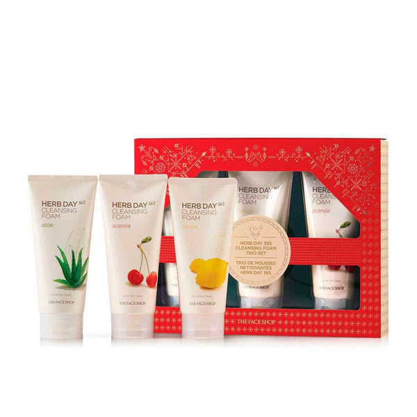 HERB DAY Cleansing Foam Trio Set