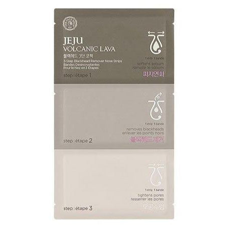 JEJU VOLCANIC LAVA 3-STEP DEEP CLEANSING NOSE STRIPS