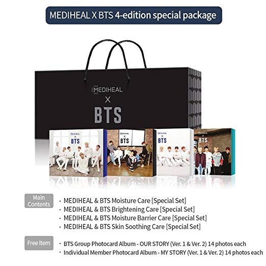 MEDIHEAL X BTS Facial Mask Sheet Special Set | Hydrating Care SEt