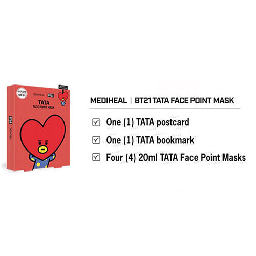 MEDIHEAL BT21 TATA FACE POINT MASK SET