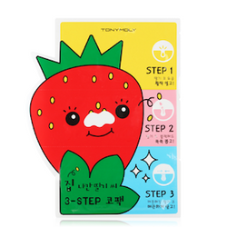 Runaway Strawberry Seed 3 Step Nose Pack-Kpop Beauty