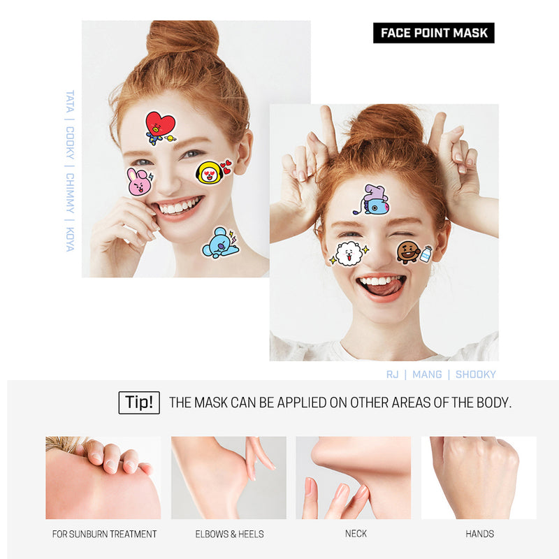 MEDIHEAL BT21  CHIMMY  FACE POINT MASK