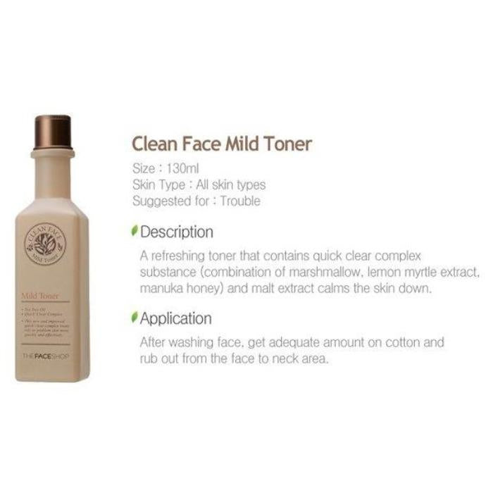 CLEAN FACE MILD LOTION