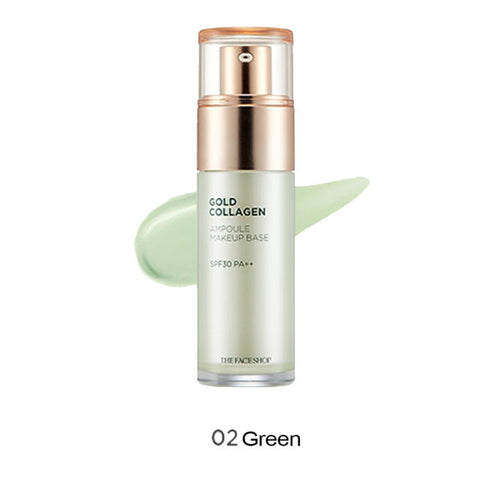 GOLD COLLAGEN AMPOULE MAKEUP BASE GREEN SPF30 PA++-Kpop Beauty