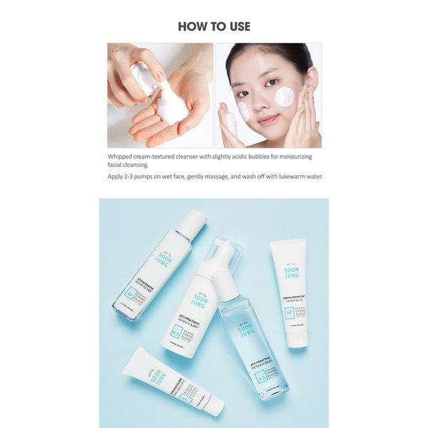 SoonJung pH 6.5 whip Cleanser (Easy size)-Kpop Beauty