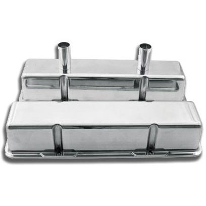 Circle Track SBC Valve Cover Polished Aluminum