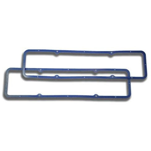 SBC Rubber Valve Cover Gasket, Steel Center (Pair)