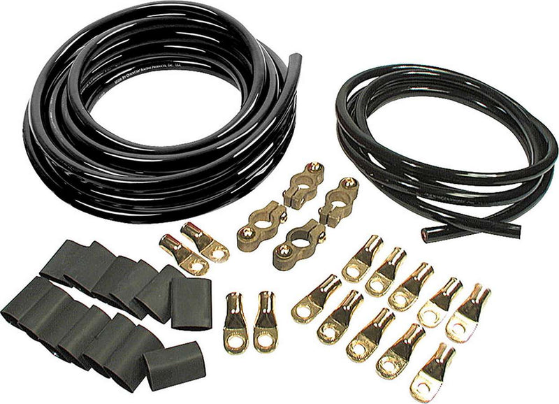 Battery Cable Kit 2 Ga. 2 Batteries All Black