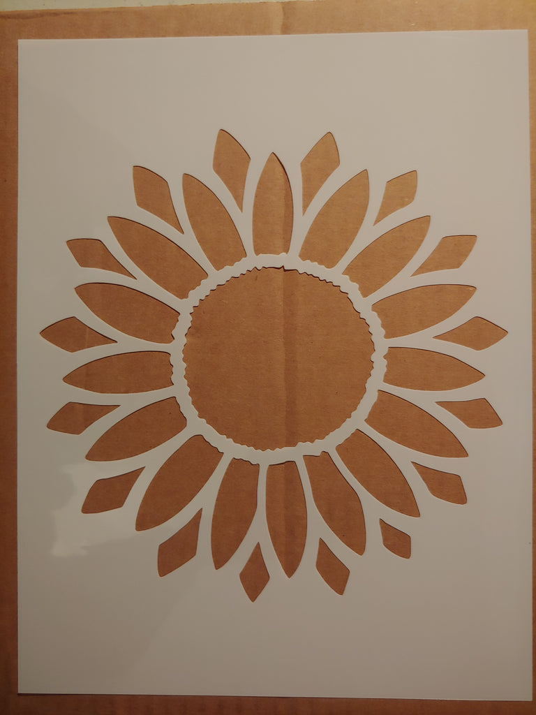 Sun Flower Sunflower - Custom Stencil