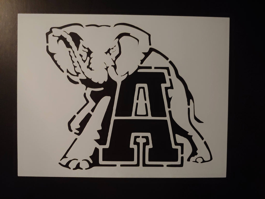 Alabama Crimson Tide Big AL Elephant Custom Stencil