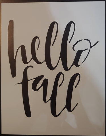 Hello Fall Thanksgiving Halloween Festive - Custom Stencil