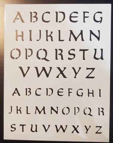 New Orleans Saints Font Alphabet - Custom Stencil