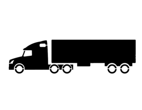 18 Wheeler Semi Truck - Custom Stencil