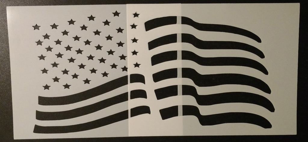 US American Flag 2-Piece-Set - Stencil