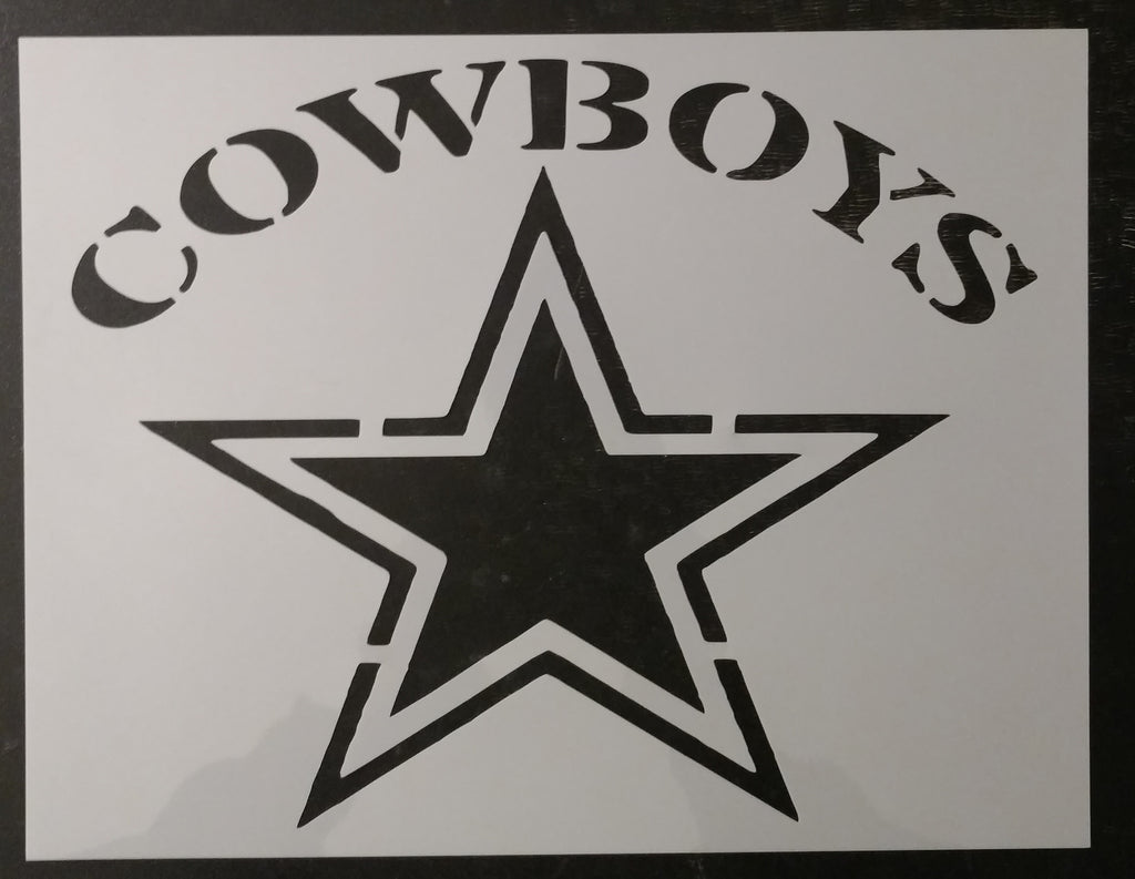 Cowboys Dallas Star Custom Stencil