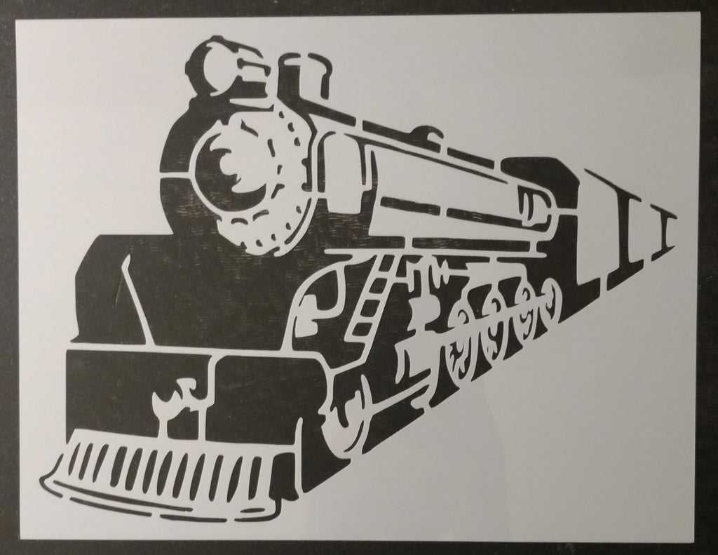 Train Locomotive Steam Engine Custom Stencil - Fast Free Shipping