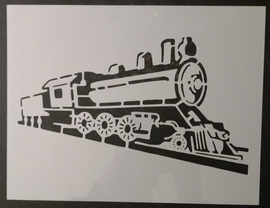 Locomotive Train Steam Engine Custom Stencil - Fast Free Shipping