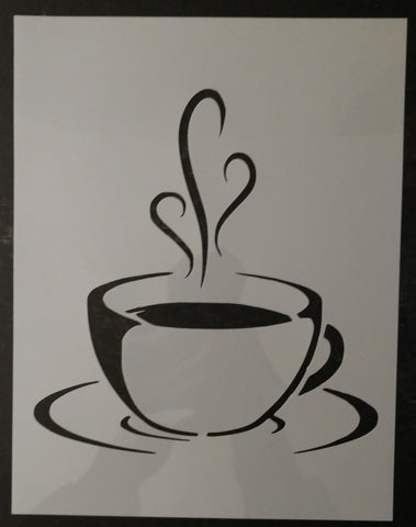 Coffee Cup Tea Cup Kitchen Custom Stencil