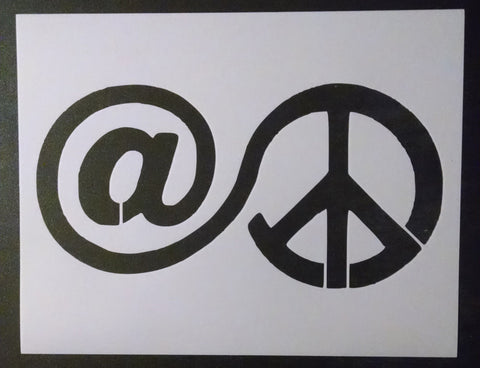 At Peace Sign - Stencil