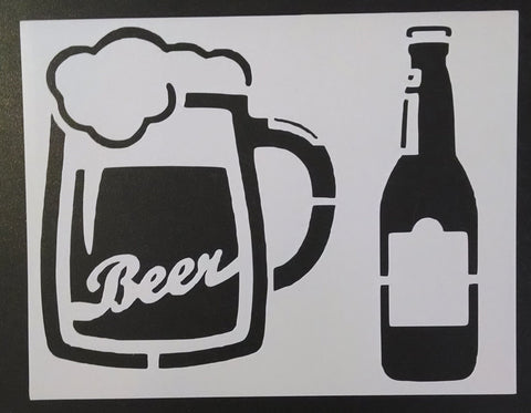 Beer Bottle and Mug - Stencil