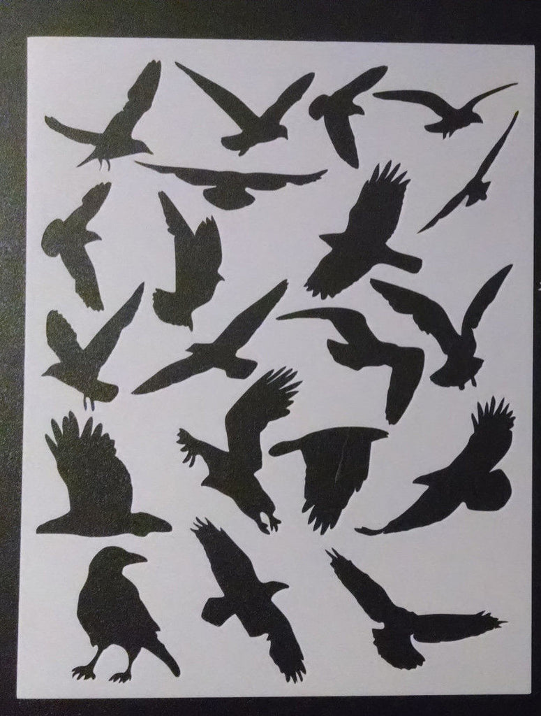 Multiple Birds - Stencil