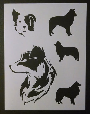 Border Collies - Stencil