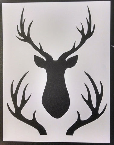 Buck Head and Rack - Stencil