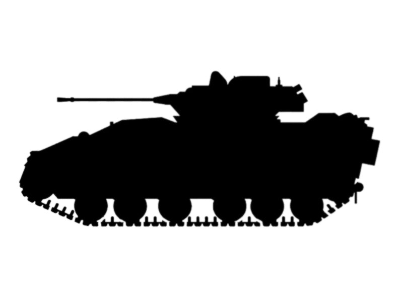 Bradley Fighting Vehicle Tank - Custom Stencil FAST FREE SHIPPING