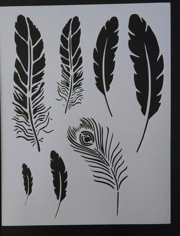 Feathers - Stencil