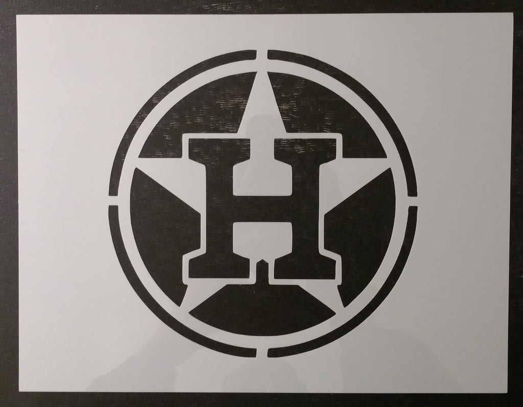 Houston Astros H - Stencil