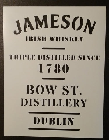 Jameson Irish Whiskey 1780 Dublin Distillery - Stencil