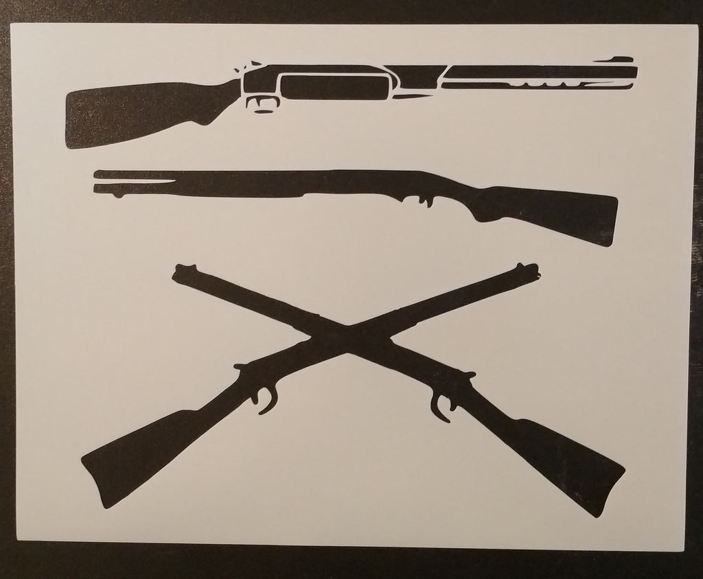 Muskets / Rifles / Crossed - Stencil