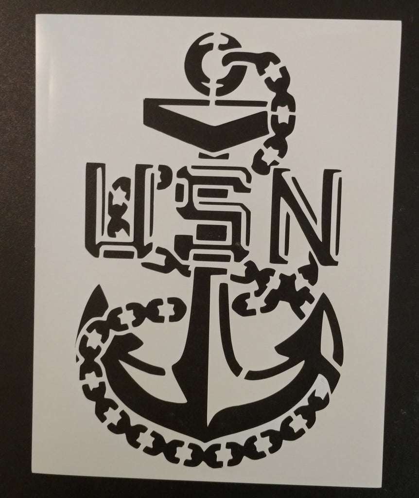 US Navy Chief Anchor - Stencil