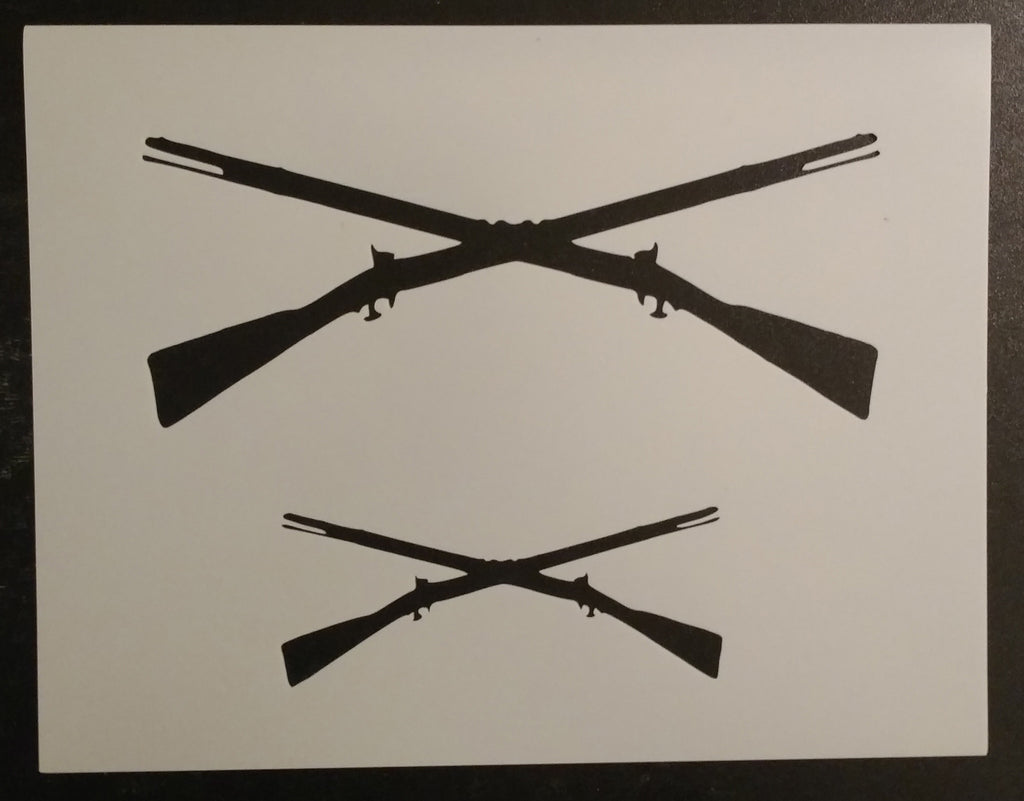 Crossed Muskets / Rifles - Stencil
