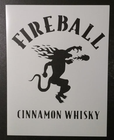 Fireball Cinnamon Whisky Devil - Stencil