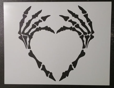 Skeleton Hands - Heart - Stencil